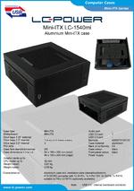 Datasheet Mini-ITX case LC-1540mi