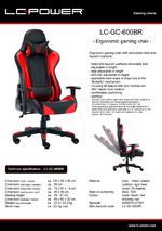Datasheet gaming chair LC-GC-600BR