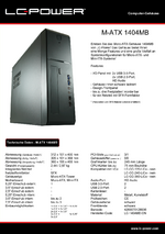 Datenblatt Micro-ATX-Gehäuse 1404MB