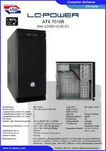 Datenblatt ATX-Gehäuse 7010B mit Netzteil LC420-12