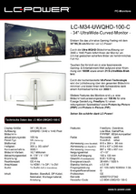 Datenblatt PC-Monitor LC-M34-UWQHD-100-C
