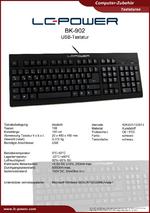 Datenblatt Tastatur BK-902