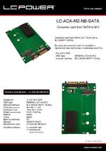 Datasheet drive bay adapter LC-ADA-M2-NB-SATA