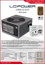 Datasheet ATX power supply unit LC600-12 V2.31