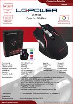 Datenblatt PC-Maus m715B