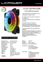 Datenblatt 120mm-RGB-Lüfter LC-CF-120-PRO-RGB
