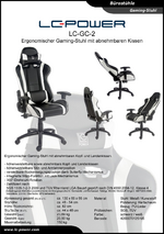 Datenblatt Gaming-Stuhl LC-GC-2