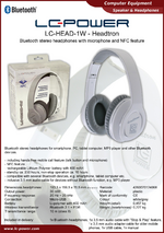 Datasheet headphones LC-HEAD-1W