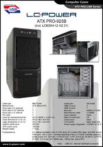 Datasheet ATX case PRO-925B with PSU LC600H-12