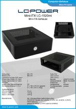 Datenblatt Mini-ITX-Gehäuse LC-1520mi