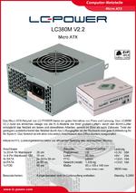 Datenblatt Micro-ATX-Netzteil LC380M V2.2