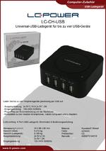 Datenblatt USB-Ladegerät LC-CH-USB