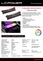 Datasheet RAM LC-RAM-DDR4-3200-RGB-32GB-KIT