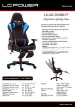 Datasheet gaming chair LC-GC-702BB-FF
