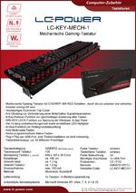 Datenblatt Tastatur LC-KEY-MECH-1
