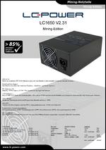 Datenblatt Mining-Netzteil LC1650 V2.31
