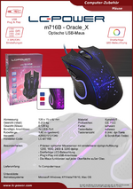Datenblatt PC-Maus m716B