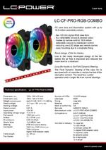 Datasheet 120 mm RGB case fan set LC-CF-PRO-RGB-COMBO