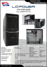 Datasheet ATX case PRO-924B with PSU LC420H-12