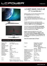 Datenblatt PC-Monitor LC-M27-QHD-144-C-V2