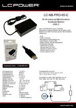 Datenblatt Notebook-Netzteil LC-NB-PRO-65-C