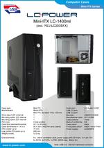 Datasheet Mini-ITX case LC-1400mi
