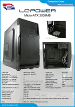 Datasheet Micro-ATX case 2009MB