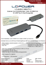 Datenblatt USB-Hub LC-HUB-C-MULTI-1