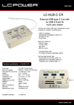 Datasheet USB hub LC-HUB-C-CR