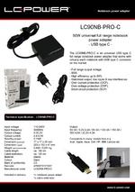 Datasheet notebook power supply unit LC90NB-PRO-C
