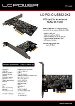 Datasheet PCI card LC-PCI-C-USB32-2X2