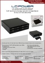 Datasheet drive bay rack LC-ADA-525-4x25-SWAP