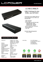 Datenblatt m.2-SSD-Gehäuse LC-M2-C-MULTI