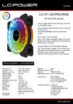 Datasheet 120 mm RGB case fan LC-CF-120-PRO-RGB