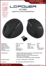 Datasheet wireless PC mouse m714BW