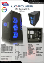 Datenblatt ATX-Gehäuse Gaming 991B Lighthouse