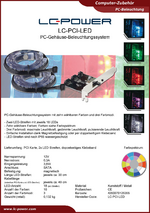 Datenblatt PC-Beleuchtung LC-PCI-LED