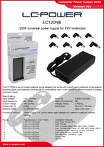 Datasheet notebook power supply unit LC120NB