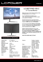 Datenblatt PC-Monitor LC-M27-FHD-165-C