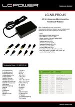 Datenblatt Notebook-Netzteil LC-NB-PRO-45