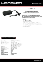 Datasheet ITX power supply unit LC75ITX