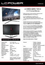 Datenblatt PC-Monitor LC-M32-QHD-144-C