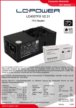 Datenblatt TFX-Netzteil LC400TFX V2.31