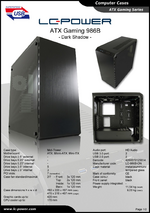 Datasheet ATX case Gaming 986B Dark Shadow