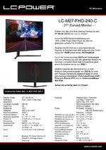 Datenblatt PC-Monitor LC-M27-FHD-240-C