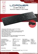 Datenblatt Tastatur LC-KEY-5B-ALU