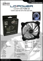 Datasheet 120 mm case fan LC-CF-120-TUBE-W