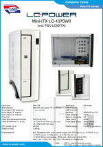 Datasheet Mini-ITX case LC-1370WII