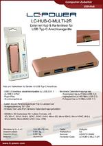 Datenblatt USB-Hub LC-HUB-C-MULTI-2R