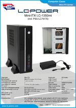 Datasheet Mini-ITX case LC-1350mi